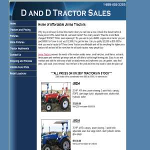 Jinma Tractors - D&D Tractor Sales