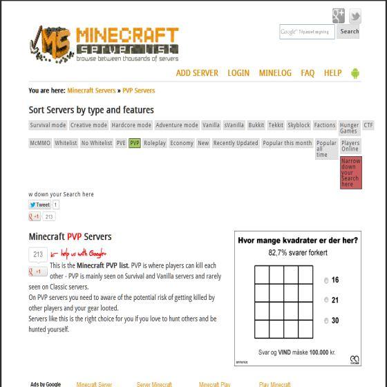 Minecraft PVP