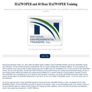 Hazwoper Training & Certification