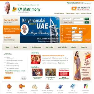 Kmmatrimony-top Indian online matrimony to search bride and grooms profiles