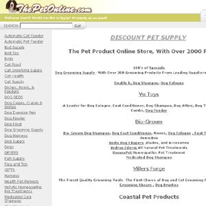 Discount Pet Supplies - Thepetonline.com