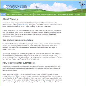 Environmental Protection at Geogise.com