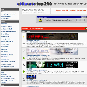Ultimate Top 200 Game Sites
