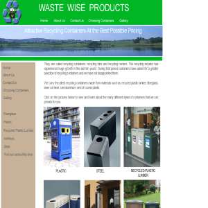 Recycling Bins - Waste Wise Products