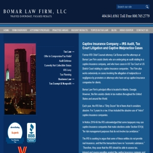 Attorney for Captive Insurance Company – malpractice cases and IRS Audits